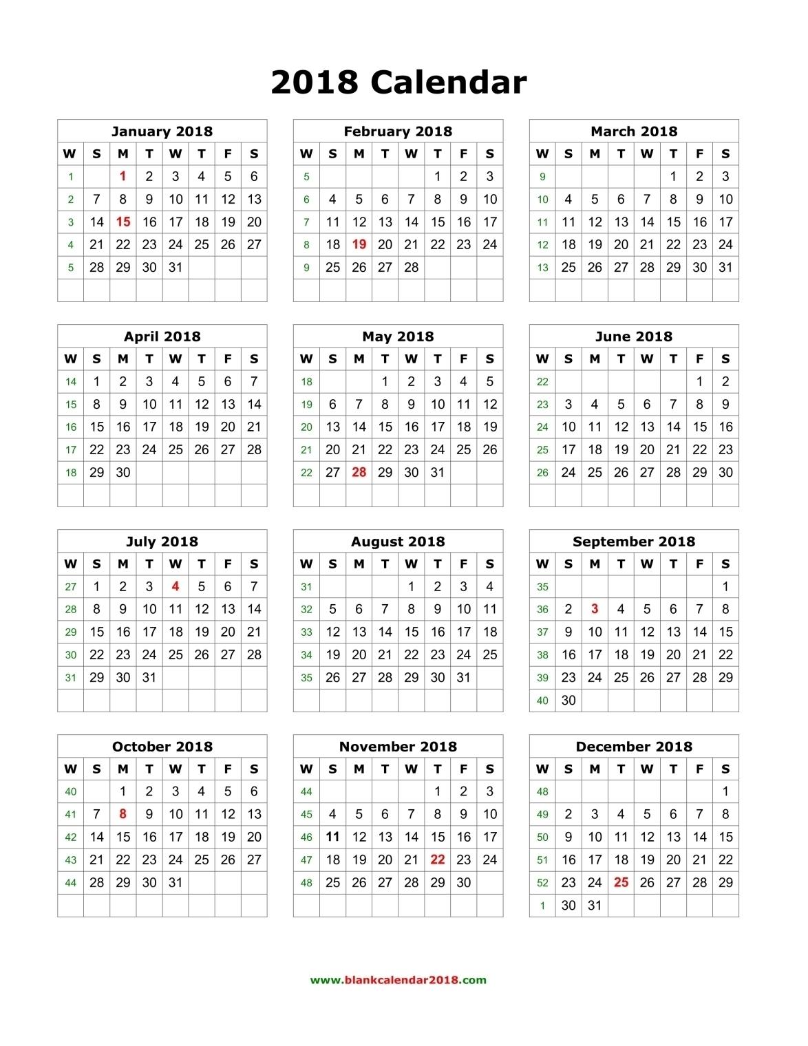 Year At A Glance Calendar 2017 Printable - Printable Calendar