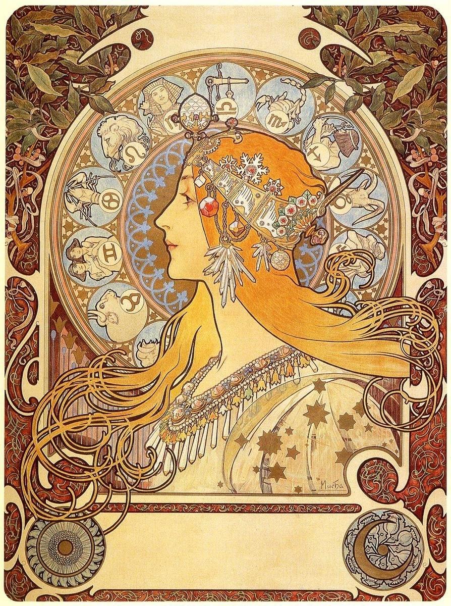 "Zodiac"" (1896), Beautiful Interpretation Of The Zodiac Signs"
