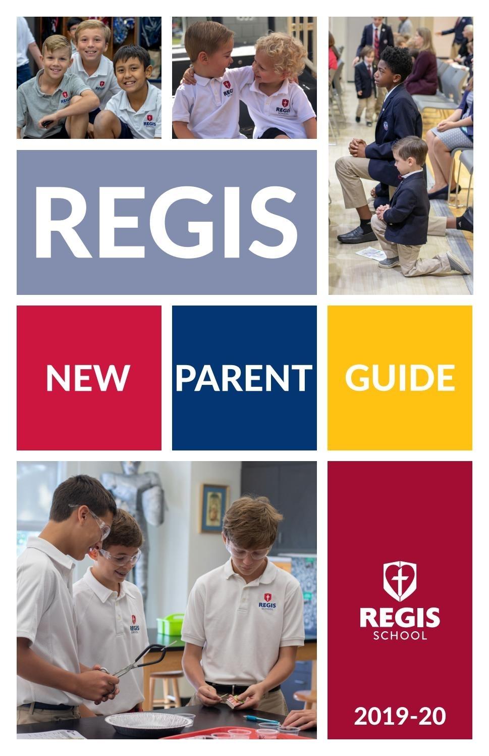 2019-2020 New Parent Guidethe Regis School Of The Sacred