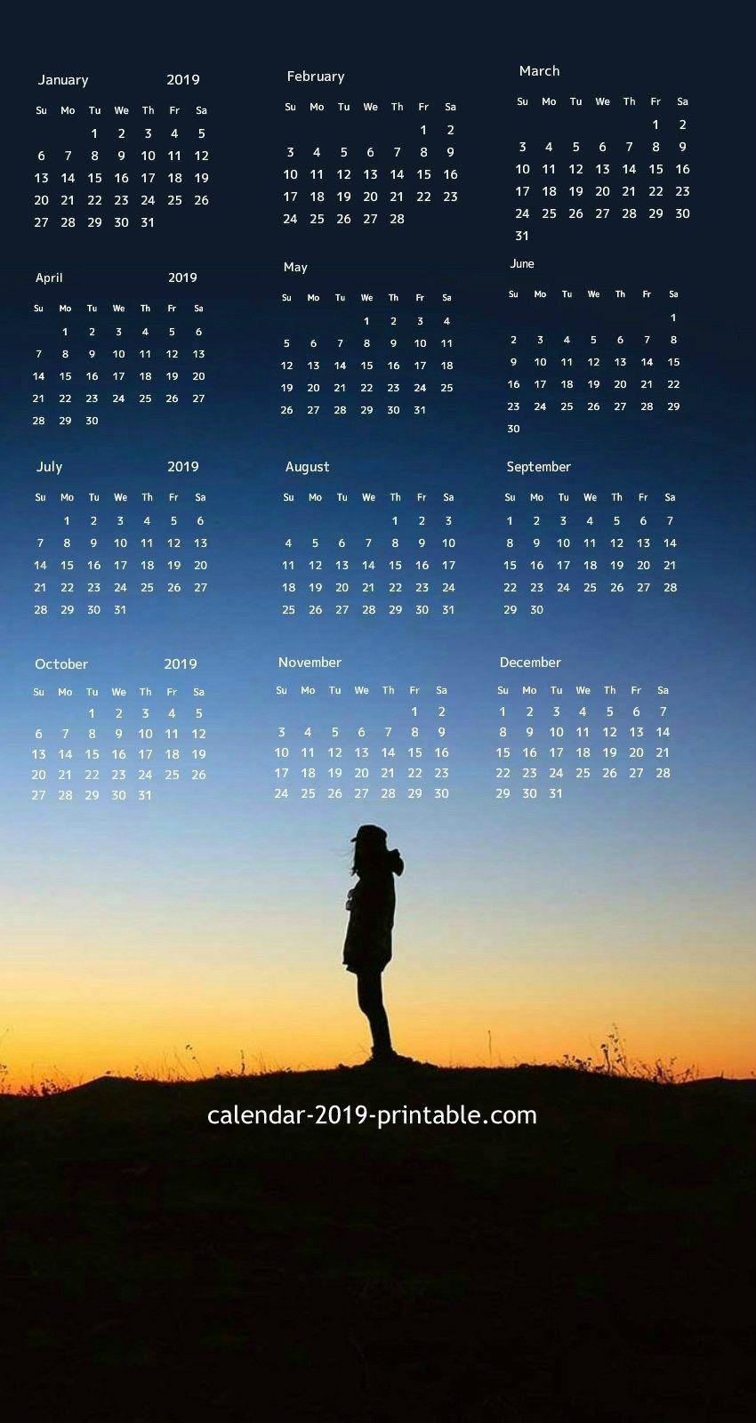 2019 Iphone Calendar Wallpaper | 2019 Calendars In 2019