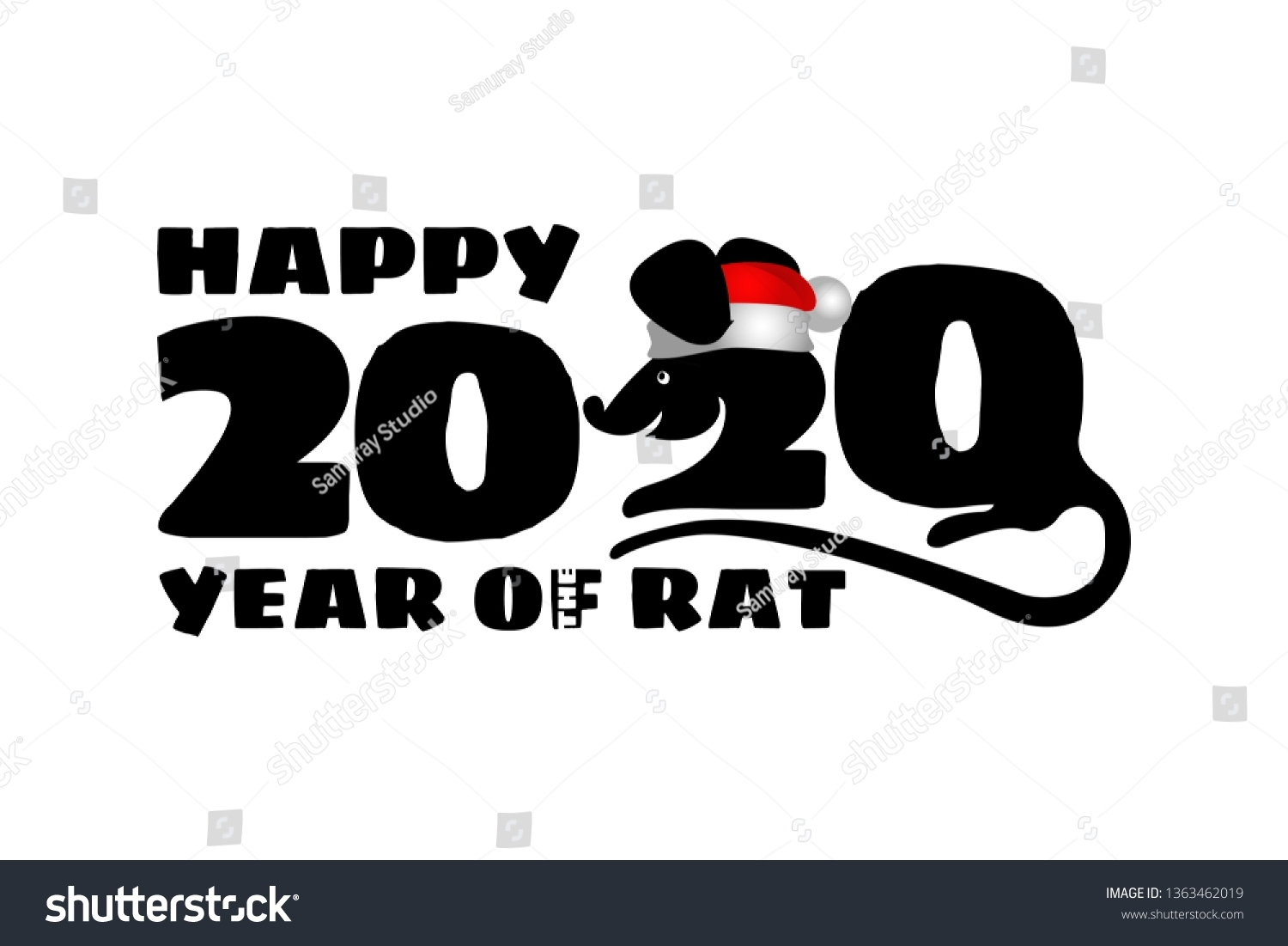 2020 Chinese New Year Rat Calendar Stock Image | Download Now