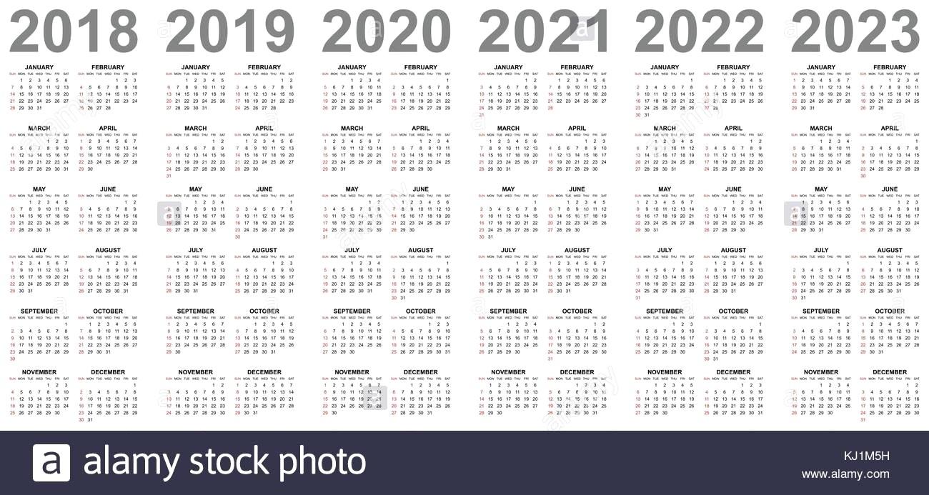 4 Year Calendar Wooster | Ten Free Printable Calendar 2020 ...
