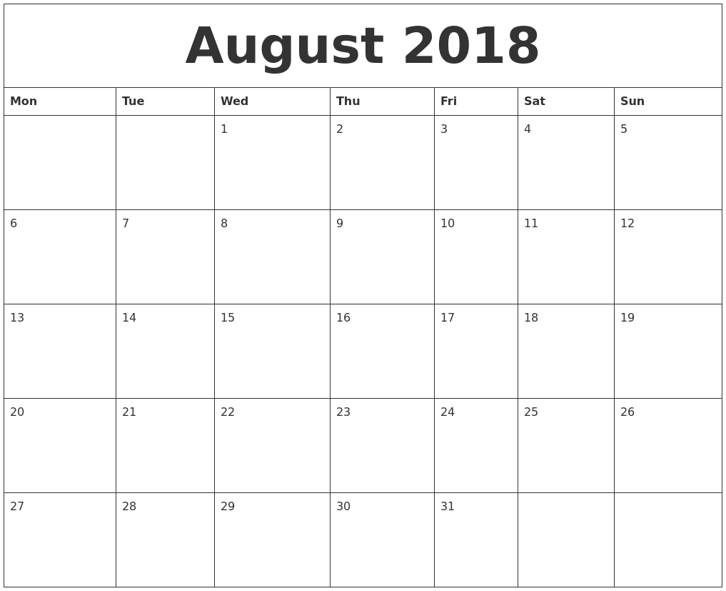 August 2019 Calendar Cute | Printable Calendar Yearly
