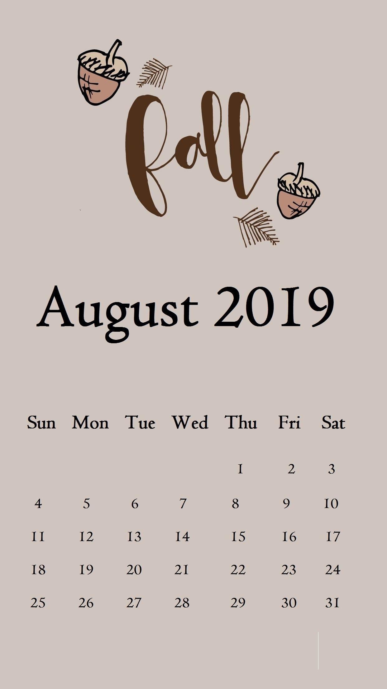 August 2019 Iphone Calendar Wallpaper Calendar 2019August
