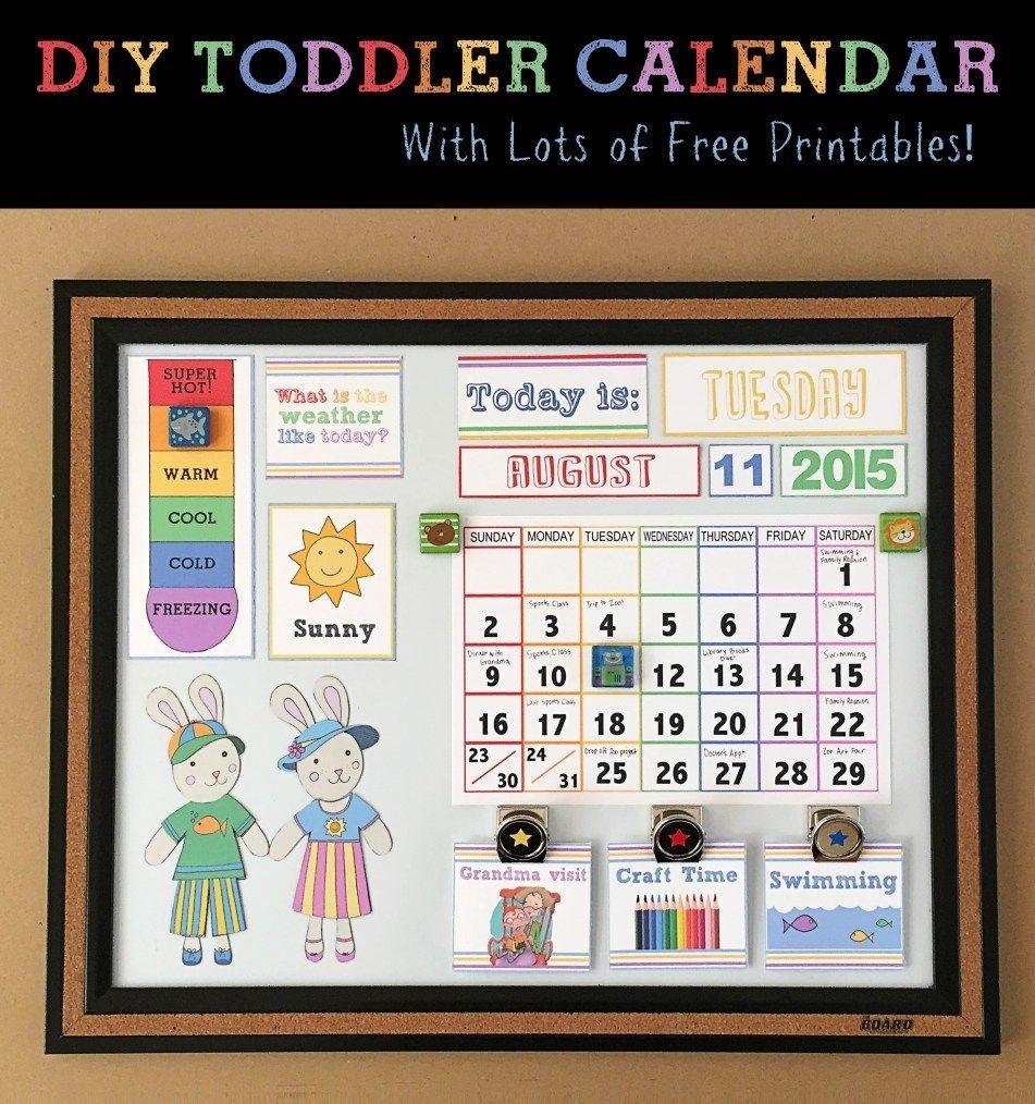 Diy Children's Calendar  Toddler Calendar, Kids Calendar