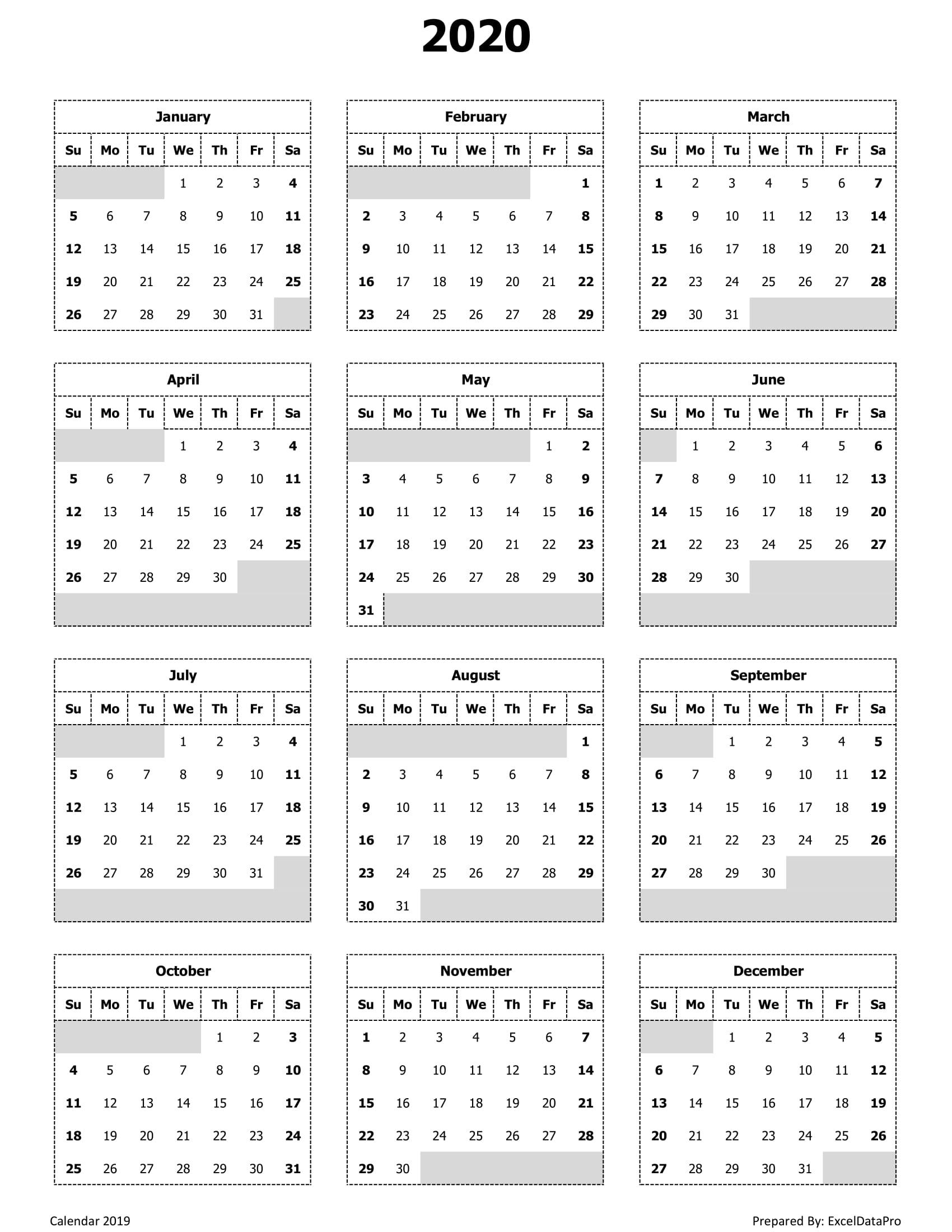 Year View Calendar Printable | Ten Free Printable Calendar ...