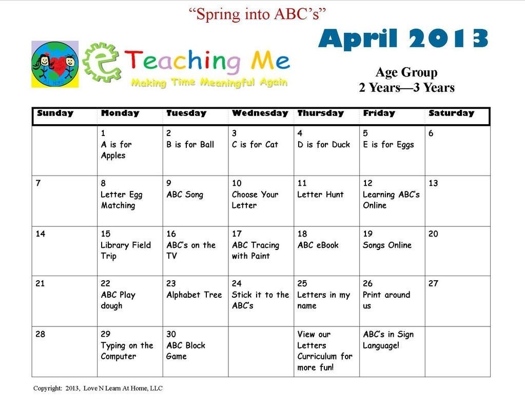 Eteachingme On | Learning | Lesson Plans For Toddlers