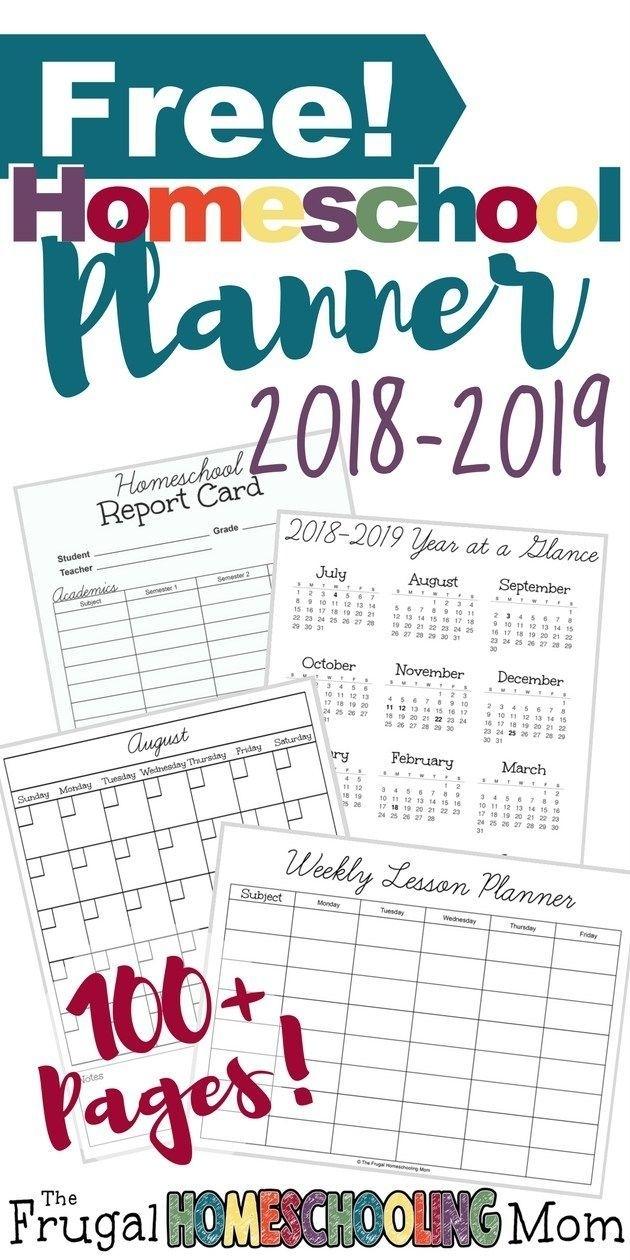 Free Printable Homeschool Planner 2018-2019   Homeschooling