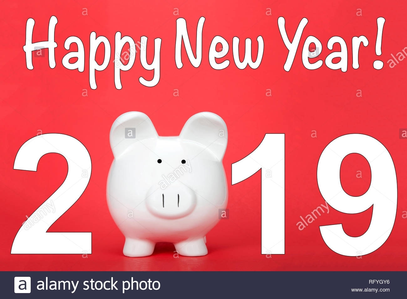 Happy Chinese New Year, The Year Of The Pig. Piggy Bank For