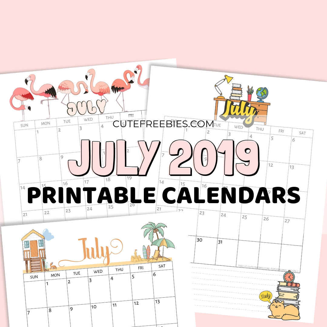 Free Printable Calendar Cute   Ten Free Printable Calendar ...