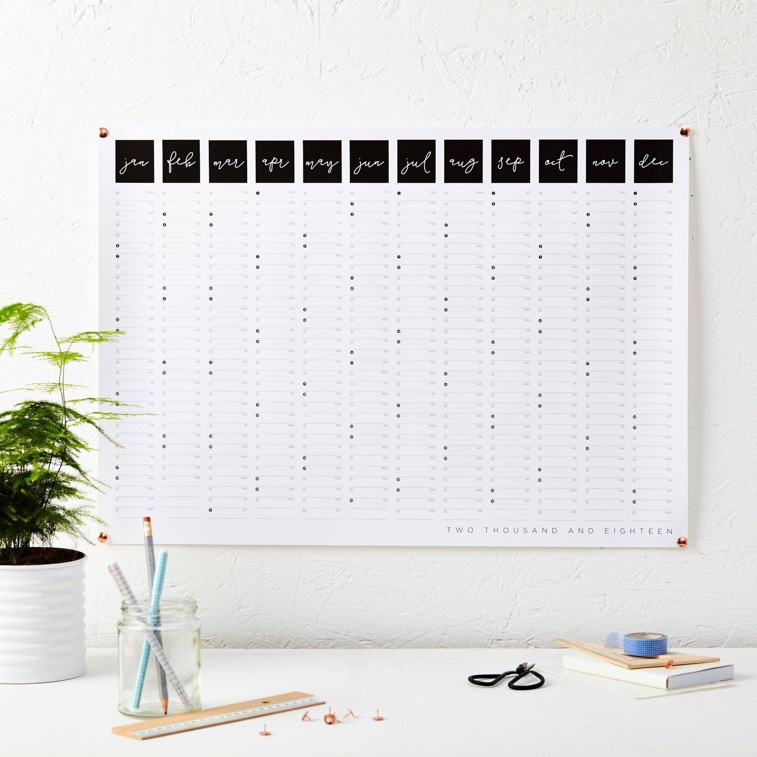New 2018 Wall Planners Now Available For All You Super