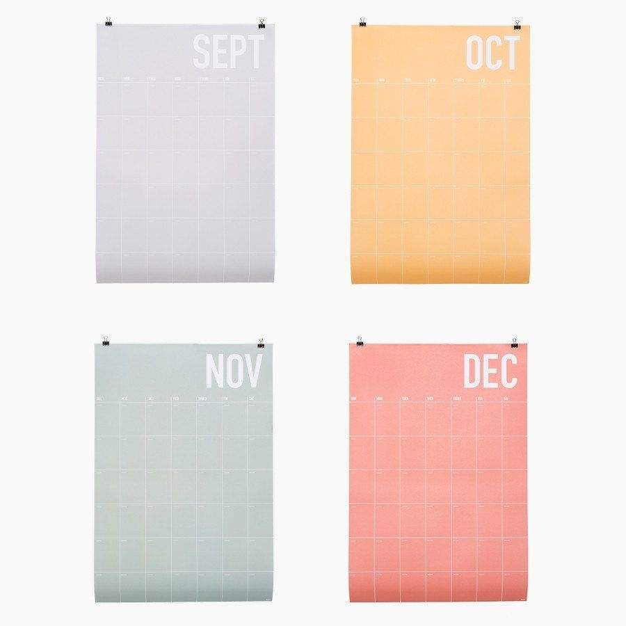 Poketo Color Story Wall Planner | Paper | Wall Planner, Wall