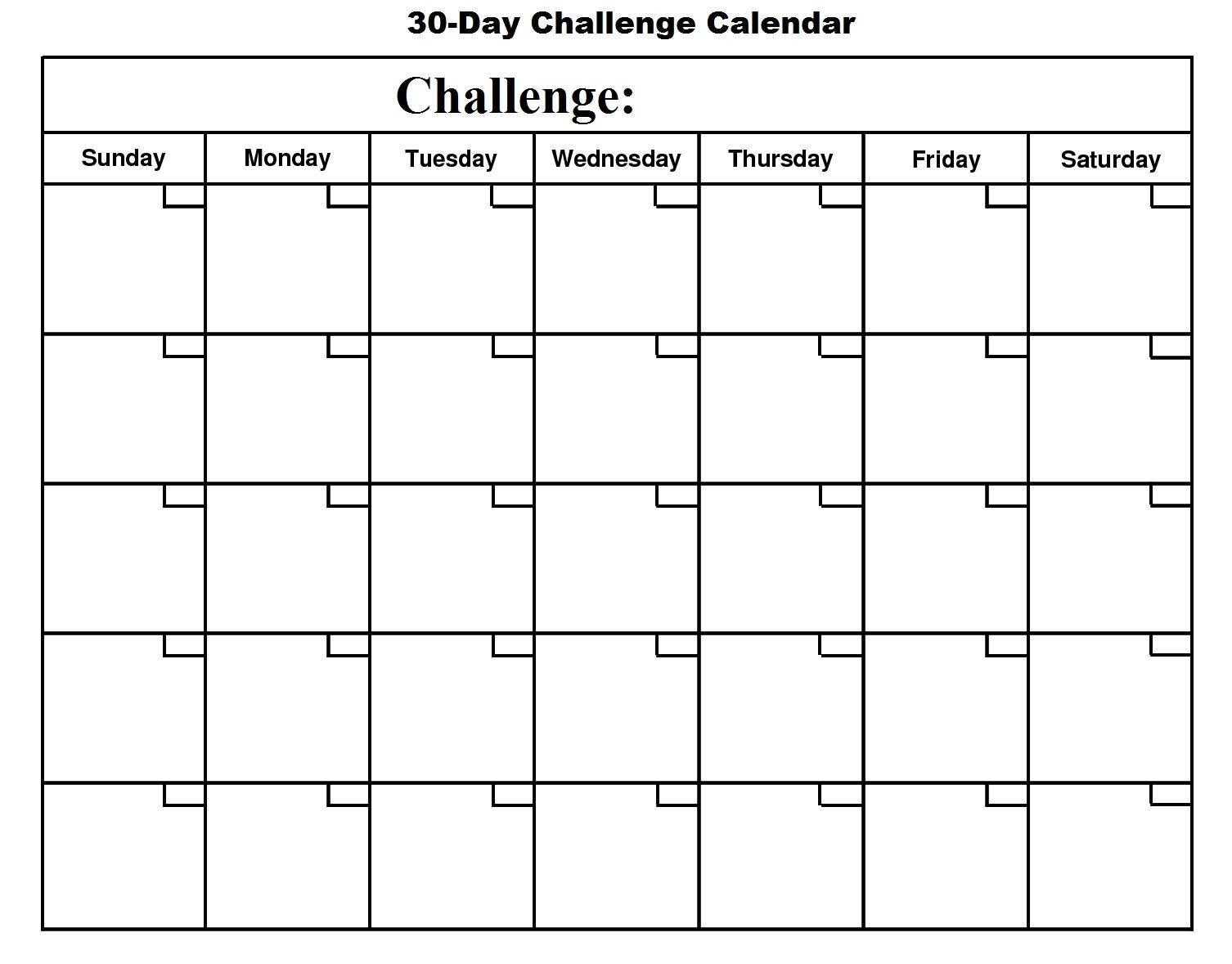 Printable 30 Day Calendar - Printable 360 Degree | 30 Day