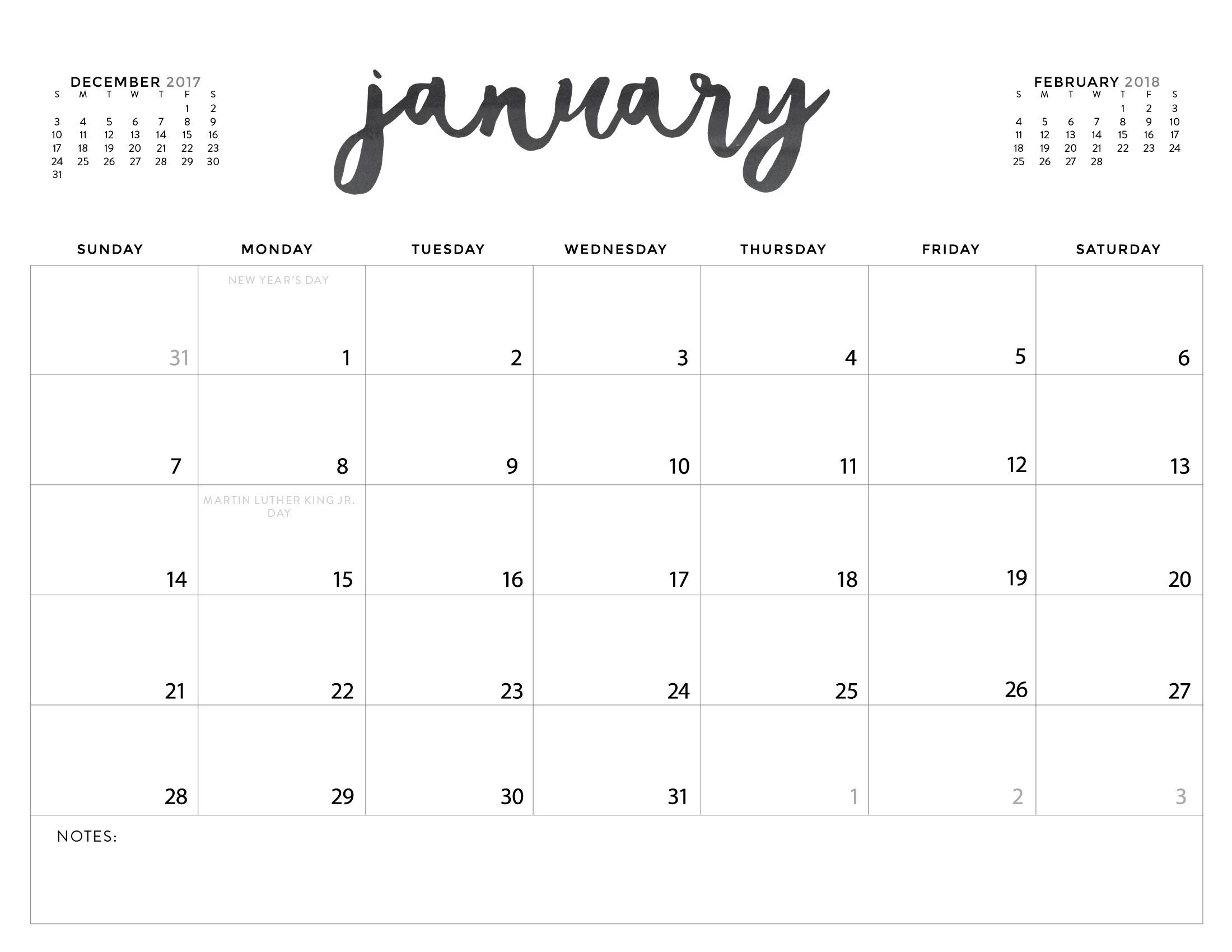 Printable Calendar Decorative | Printable Calendar 2019