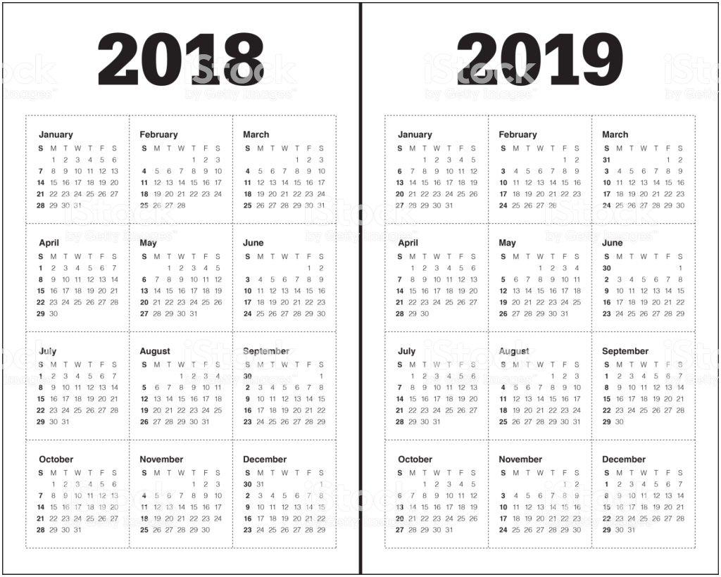 Richland 2 Calendar 2018 2019 2018 2019 년 달력 벡터 0명에