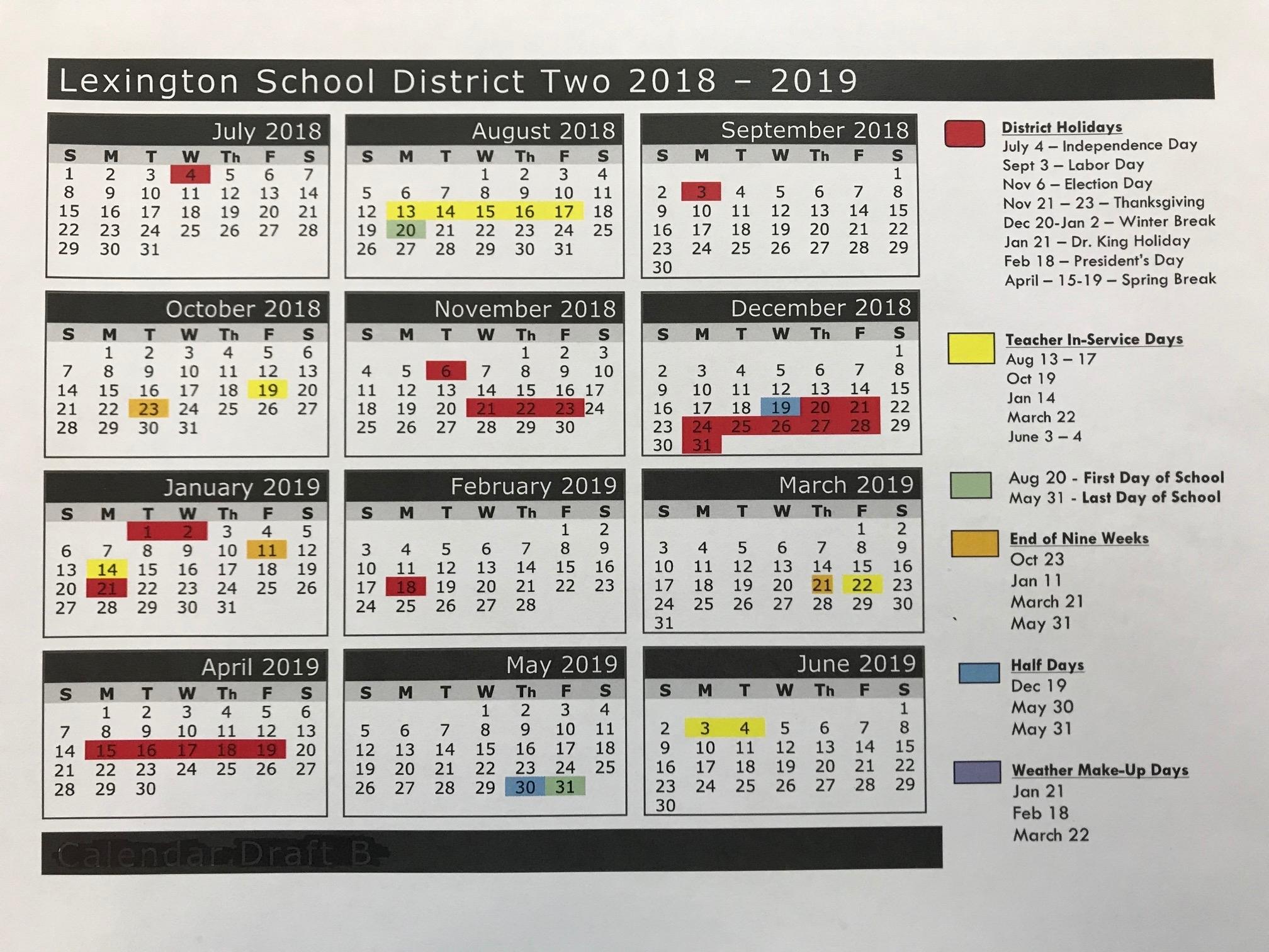 Richland 2 Calendar | 2020 Calendar