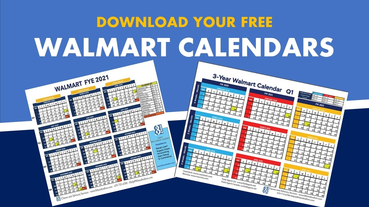 Walmart Fiscal Year Calendar | 2019-2020 | Free Download