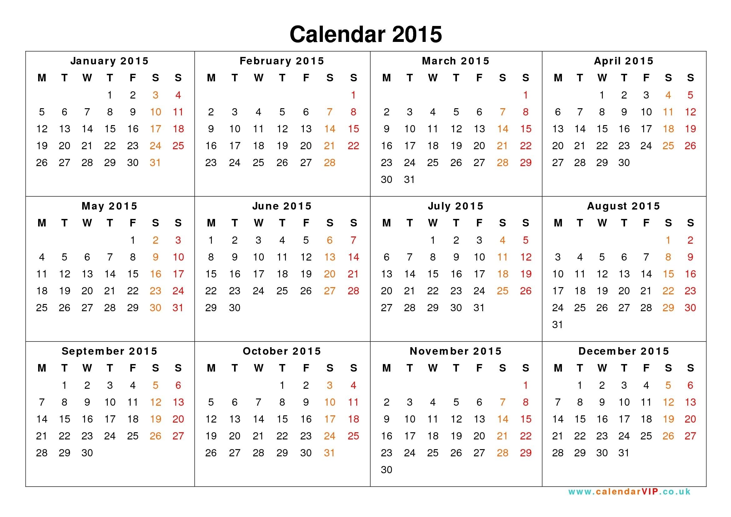 Year Calendar June 2015 To June 2016 | Printable Calendar Uk