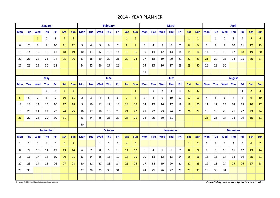 Year Planner France