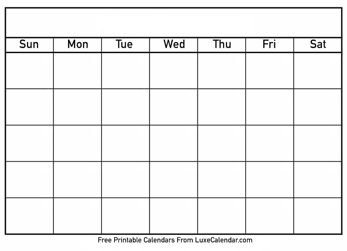 Blank Full Page Calendar - Menom