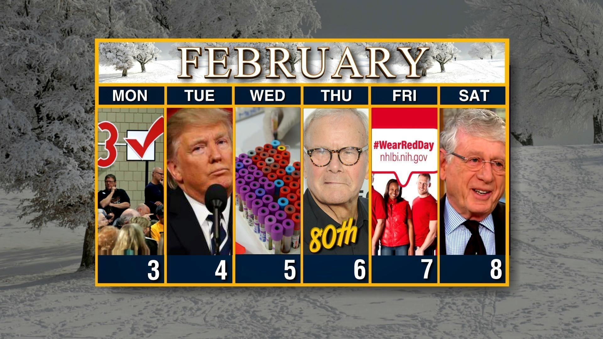 Calendar: Week Of February 3