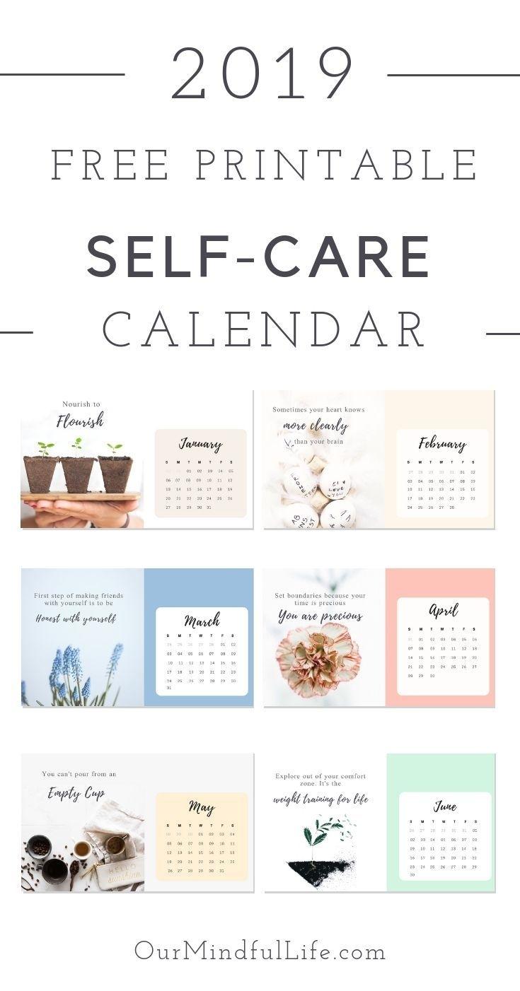 "Free Printable ""self-Care Reminder"" Calendar For 2019   Self"