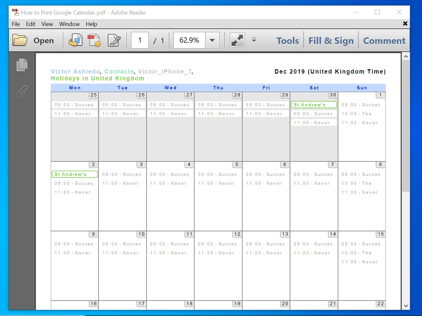 How To Print Google Calendar (Print To Paper And Save In Pdf)