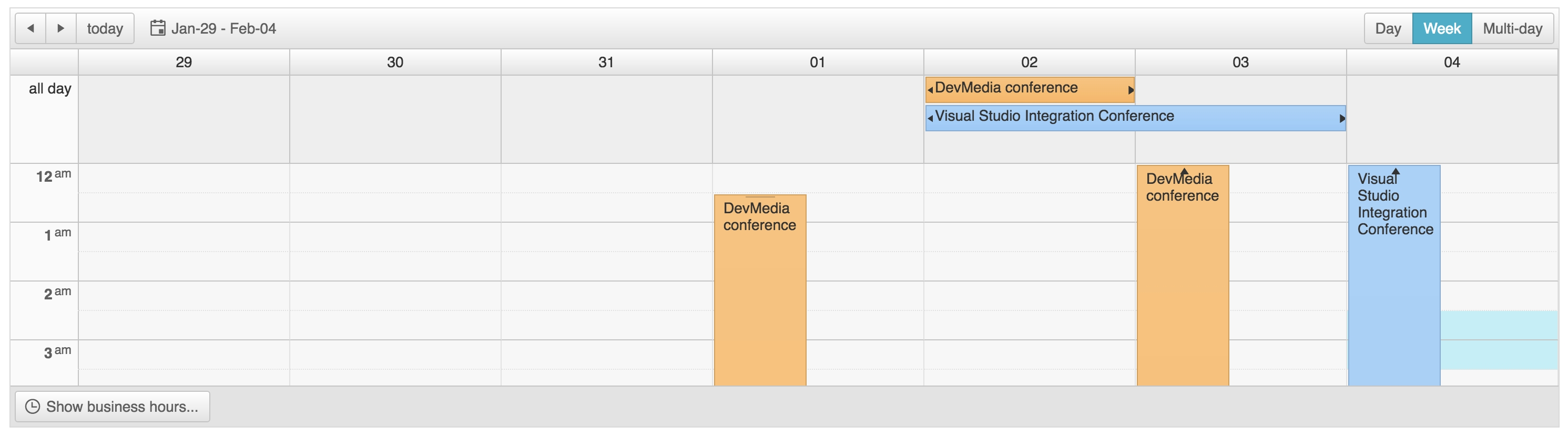Scheduler Week View Multi-Day Events · Issue #10 · Telerik