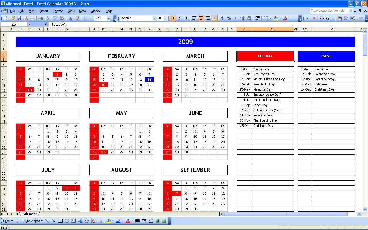Year View Calendar Excel | Ten Free Printable Calendar ...