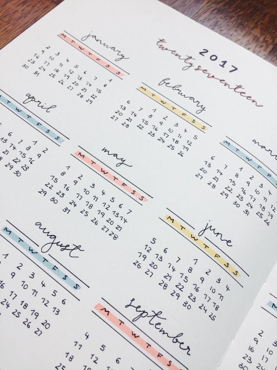 Year Calendar Nujo   Bullet Journal Notebook, Bullet Journal