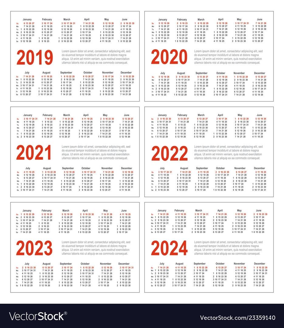 3 Year Calendar 2021 To 2023 | Ten Free Printable Calendar ...