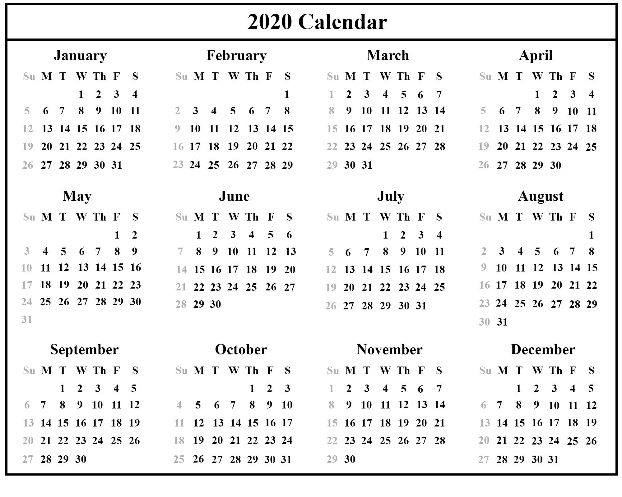 Free Download Australia 2020 Calendar Printable {Pdf, Excel