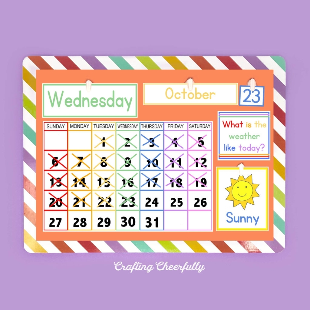 Free Printable Children's Calendar - Crafting Cheerfully