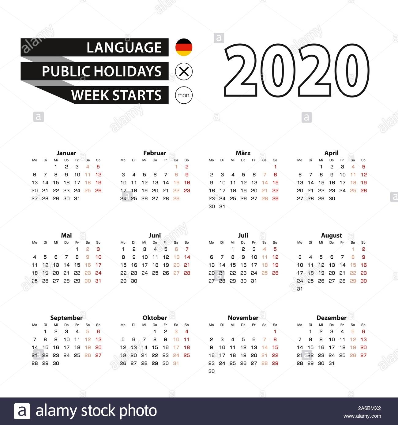 Kalender 2020 High Resolution Stock Photography And Images