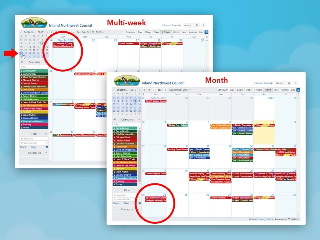 Monthly Vs Multi-Week Calendar View | Teamup News, Tips, Stories