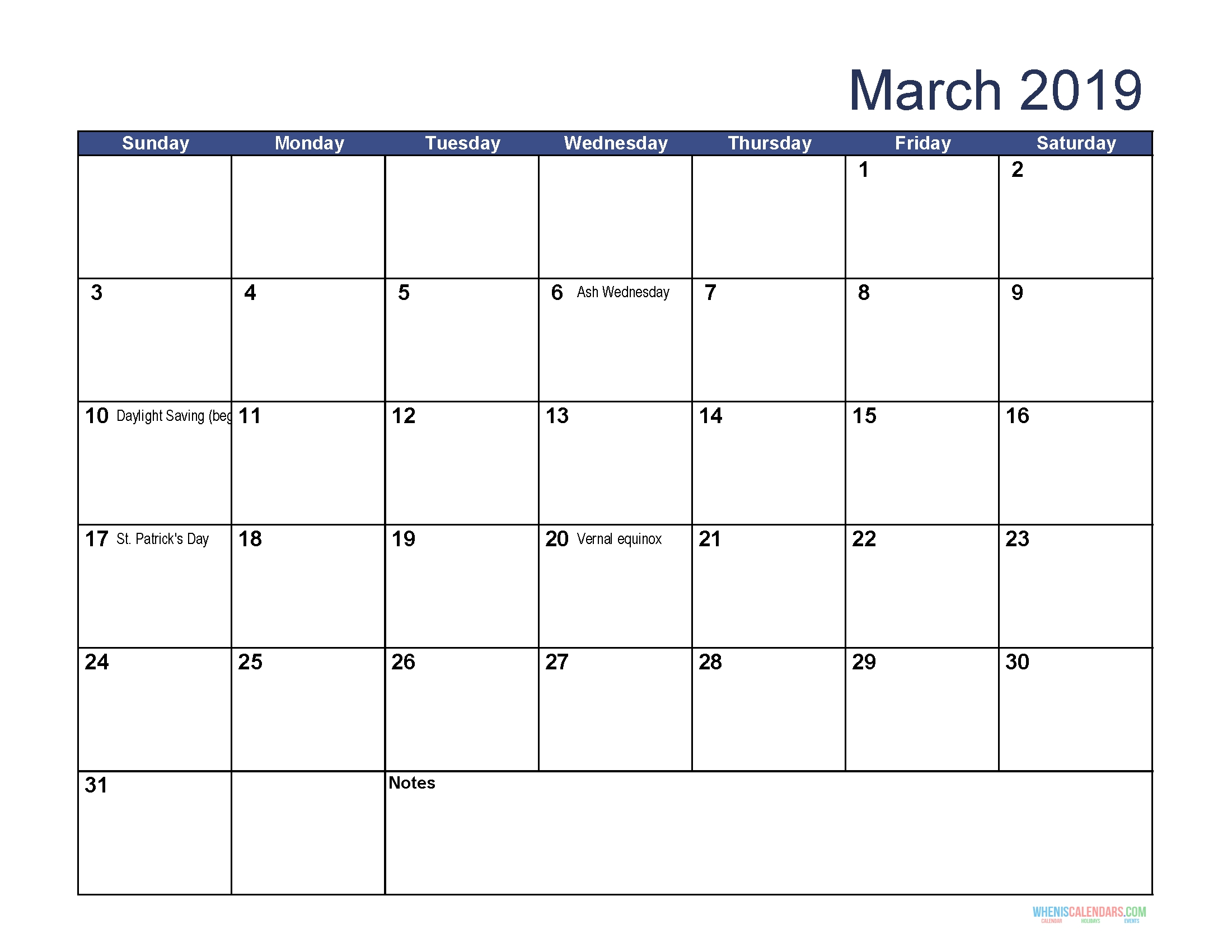 Printable Calendar For March 2019 Word | Calendar Printables