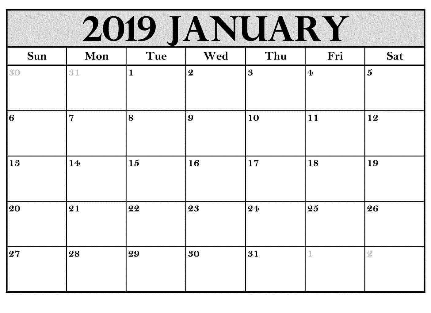 Printable January 2019 Calendar Australia | Calendar