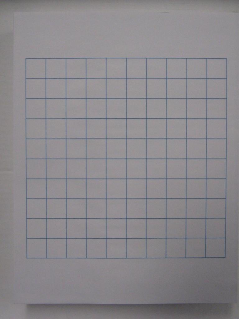 """#10 Letter Sized 3/4"""" Graph Paper - Sheet Size: 8.5"""" X 11"""" - 500 Shts/Pkg. - Viking Printing"""