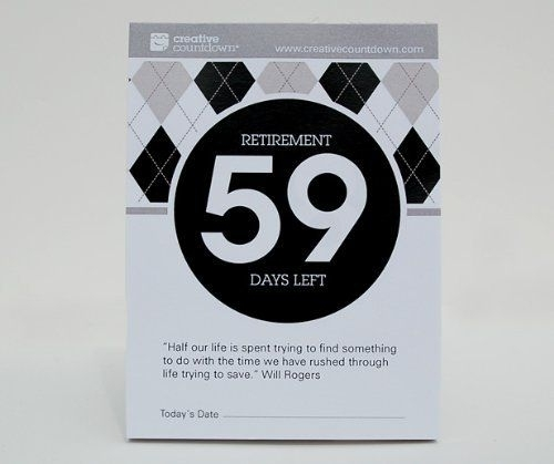 100-Day Countdown To Retirement Tear Off Calendar | Countdown Calendar, Day Countdown, Calendar