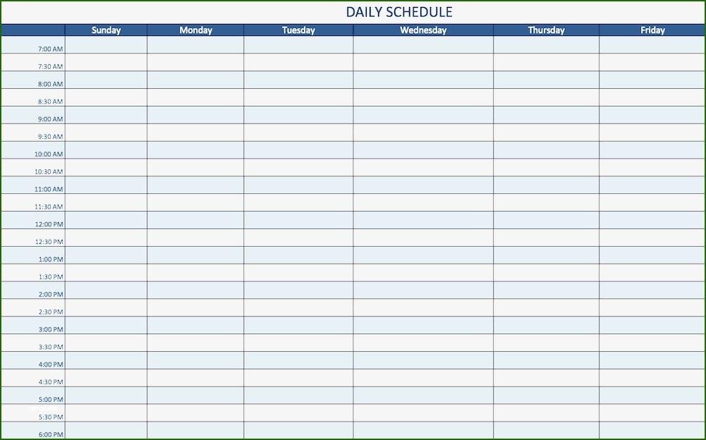 15 Minute Schedule Template: 12 Understanding 2020 In 2020   Daily Schedule Template, Monthly