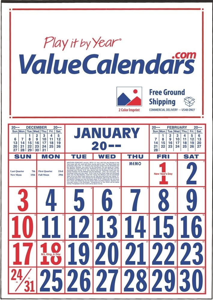 "2017 Commercial Apron (Large Numbers) Calendar | 19"" X 27-1/2"" Apron Utility Calendars"