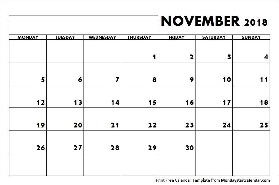 2018 Calendar November Month   Monday Start   November Calendar, August Calendar, November Month