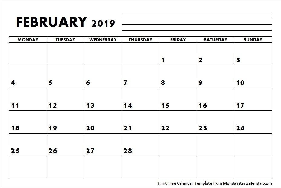 2019 February Calendar   September Calendar, Calendar Template, August Calendar