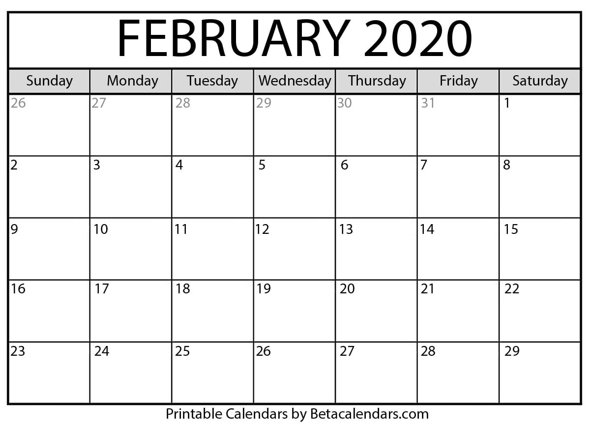 2020 Calender I Can Edit   Calendar Template Printable Monthly Yearly