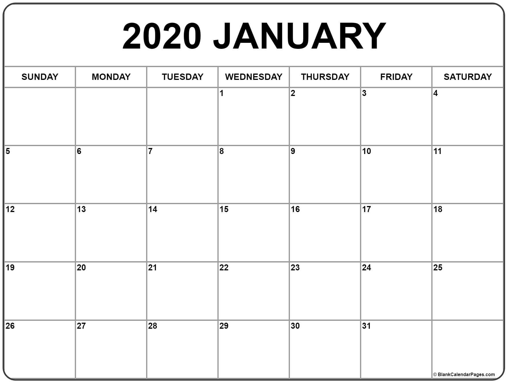 2020 Free Monthly Printable Calendar Monday Thru Friday | Calendar Template Printable