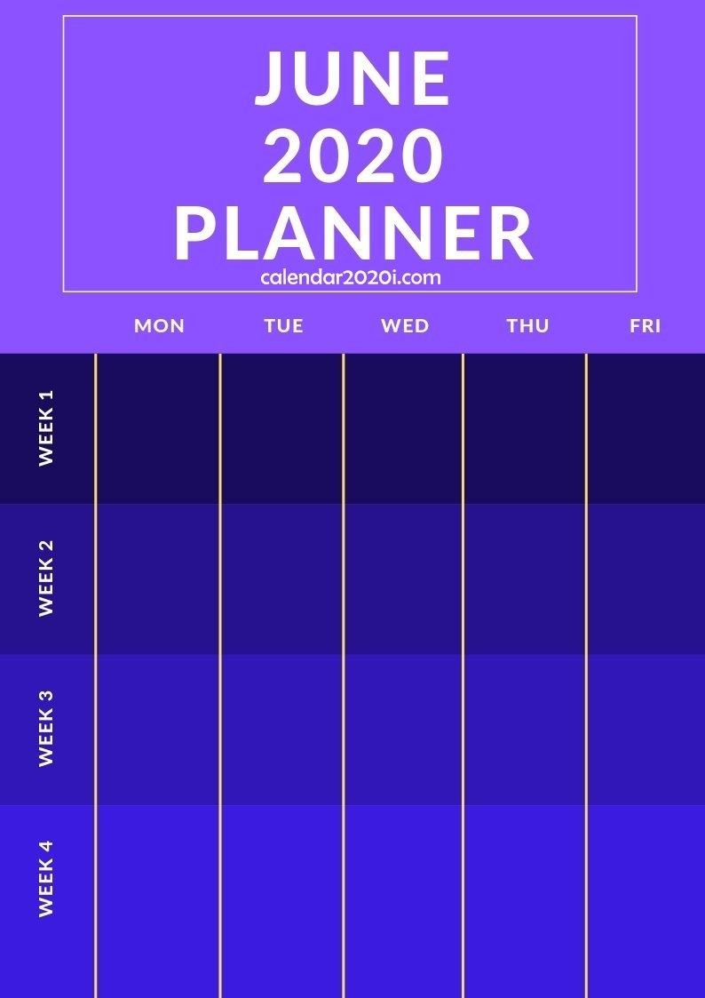 2020 Planners Monthly Printable Templates | Calendar 2020