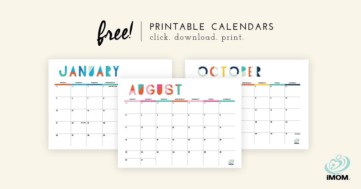 2020 Printable Calendars: 9 Free Printable Calendar Designs - Imom
