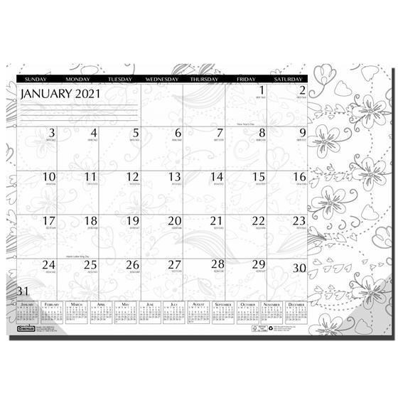 "2021 1876 Hod1876 House Of Doolittle Doodle Coloring Desk Pad Calendar, 18.5 X 13"" | Nordisco"