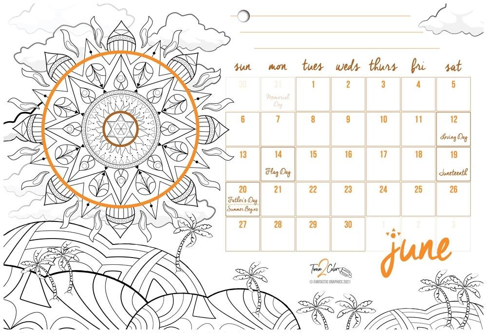 2021 Kwanzaa Holiday Wall Coloring Calendar | Time 2 Color