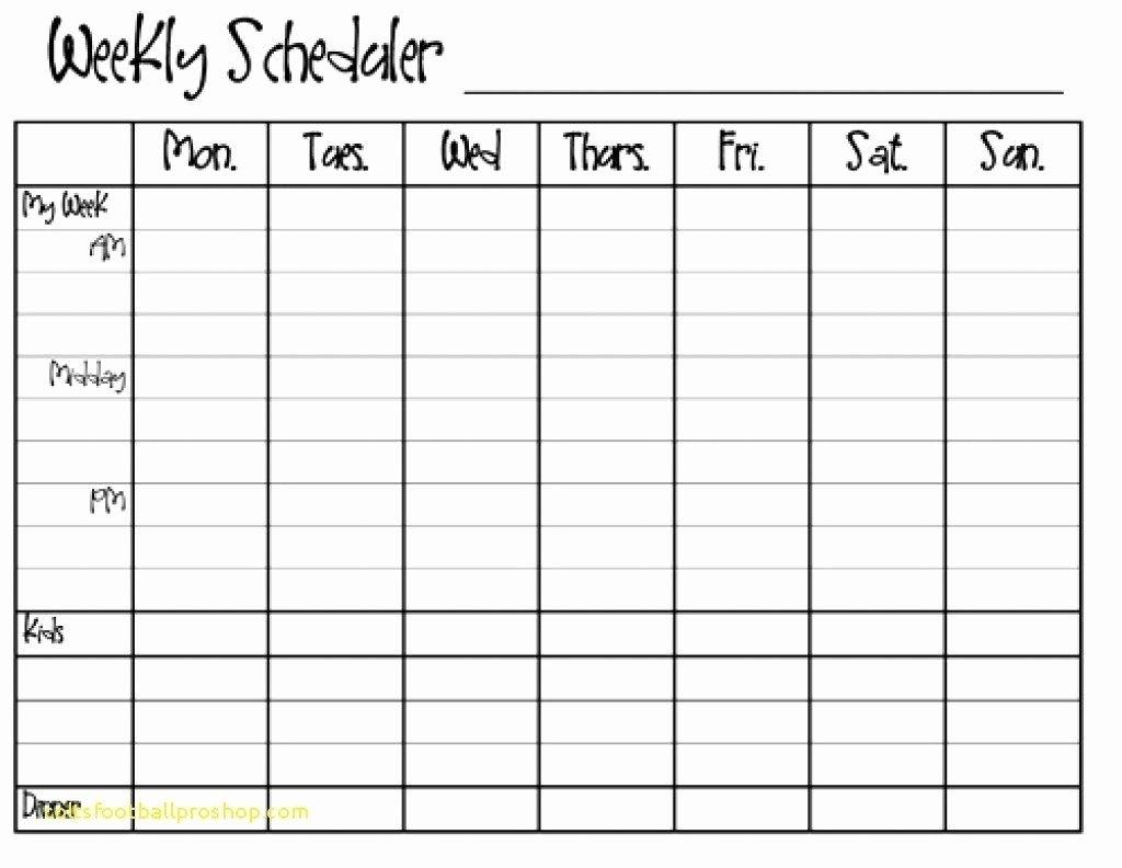 30 Monday Through Sunday Schedule Template In 2020 | Free Weekly Calendar, Weekly Calendar